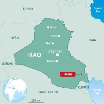 mapa desalinizadora iraq veolia